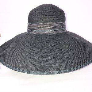 Laundry by Shelli Segal Black Wide Brim Hat